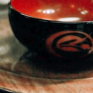 porcelain japanese bowl w red and floral designs