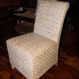 Chair Side rattan woven high back