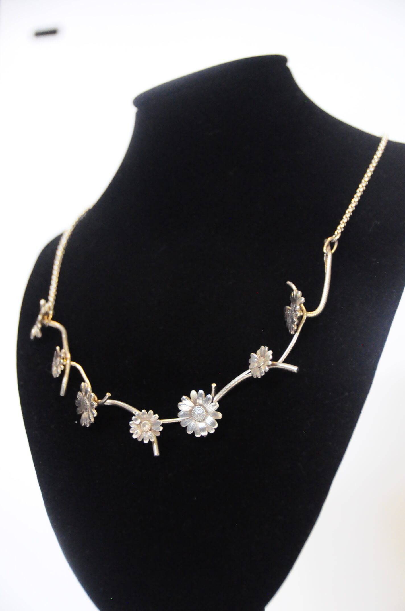 Jewelry Necklace Silver Daisy Links 18'L 23.5g